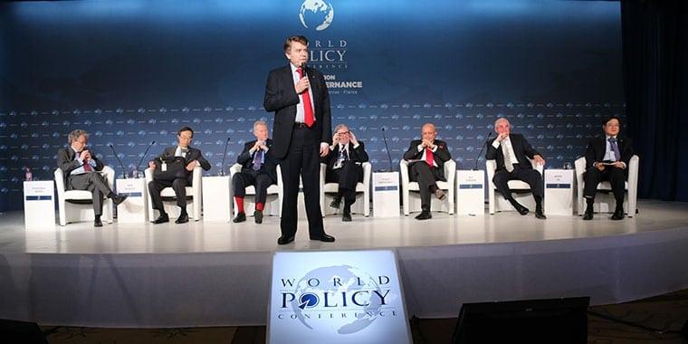 WPC, Cannes, 7-10 décembre 2012 - Thierry de Montbrial, Dominique Moïsi, Han Sung-joo, Jim Hoagland, Donald Johnston, Serguei Karaganov, Igor Yurgens, Wang Jisi