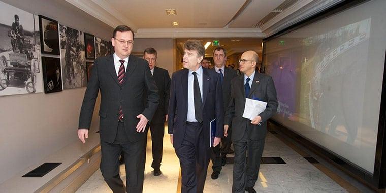 Dîner-débat, Automobile Club de France, 10 février 2011 - Petr Nečas, Thierry de Montbrial