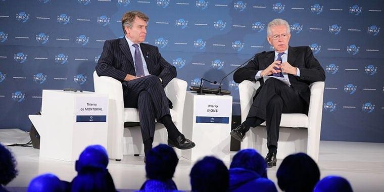 WPC, Cannes, 7-10 décembre 2012 - Thierry de Montbrial, Mario Monti