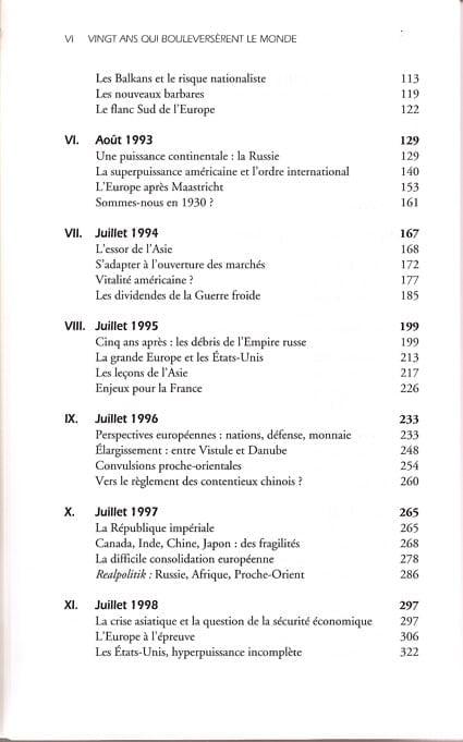 Vingt ans qui bouleversèrent le monde - Sommaire page 2