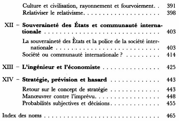 L'action et le système du monde - Sommaire page 4