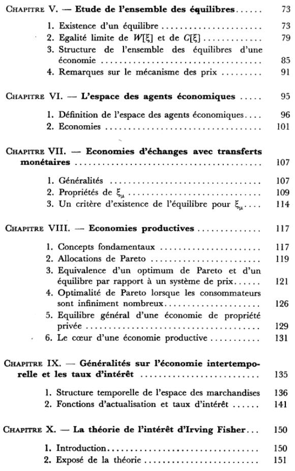 Economie théorique - Sommaire page 2