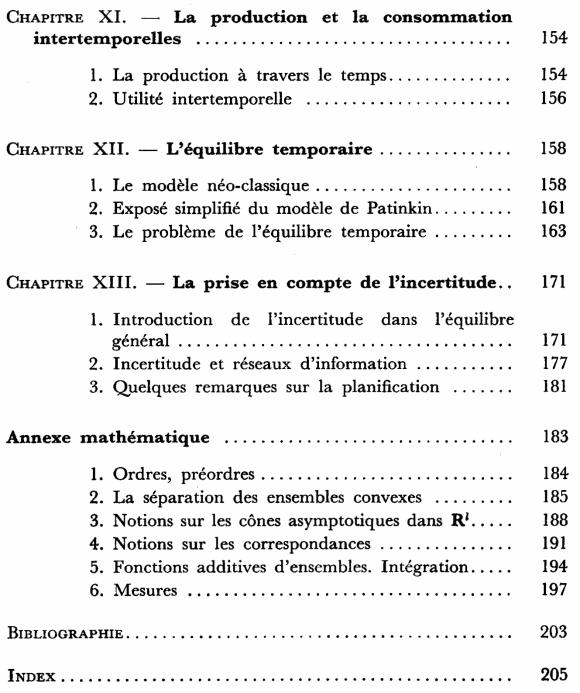 Economie théorique - Sommaire page 3