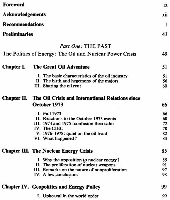 L'énergie : le compte à rebours - Anglais - Sommaire page 1