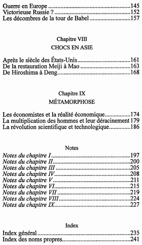 Mémoire du temps présent - Sommaire page 3