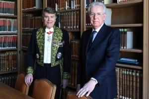 Mario Monti à l'Académie des sciences morales et politiques et Thierry de Montbrial