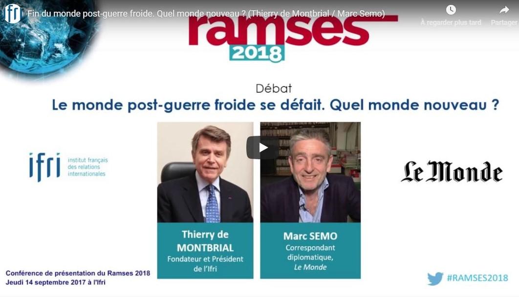 Présentation Ramses 2018 Thierry de Montbrial Marc Semo
