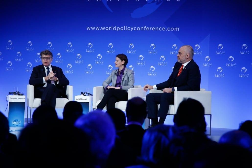 World Policy Conference WPC 2017 Thierry de Montbrial, Ana Brnabić, Edi Rama,
