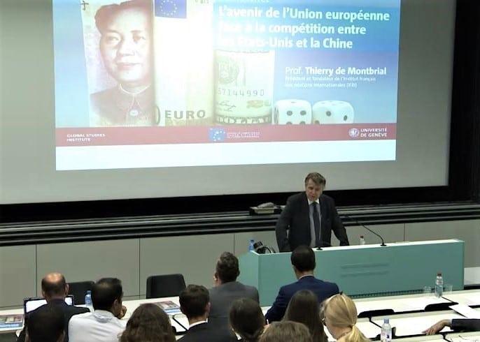 Conférence de Thierry de Montbrial à l'Université de Genève le 31 mai 2018