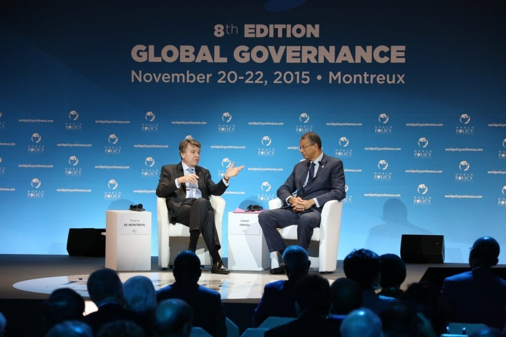 World Policy Conference WPC 2015 Thierry de Montbrial, Lionel Zinsou