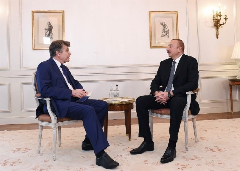 Président de la République d'Azerbaïdjan Ilham Aliev et Thierry de Montbrial, Juillet 2018