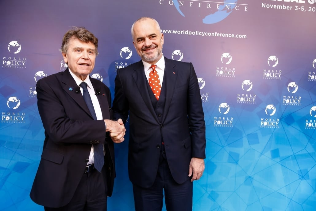 World Policy Conference WPC 2017 Thierry de Montbrial, Edi Rama