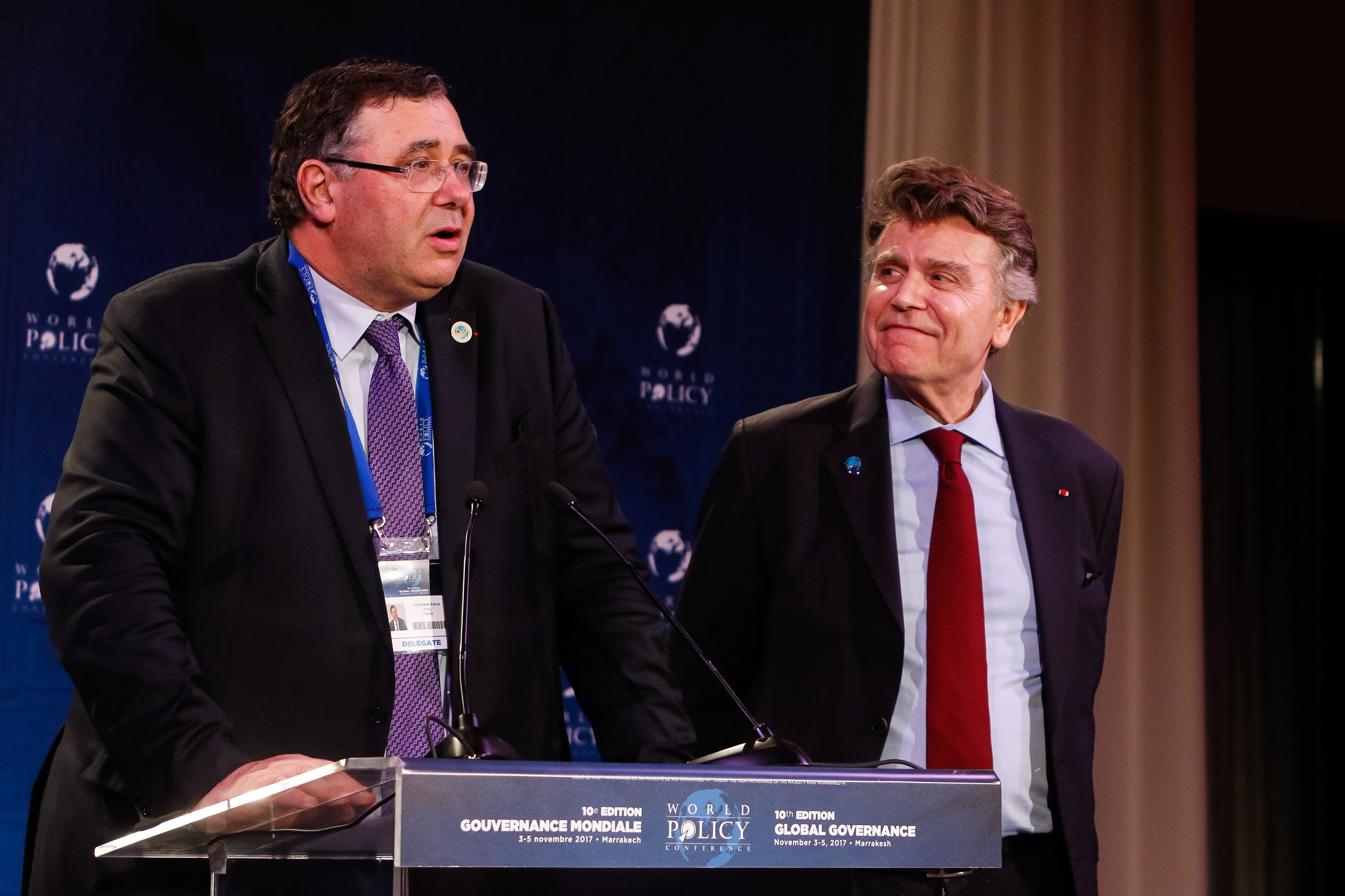 World Policy Conference WPC 2017 Thierry de Montbrial, Patrick Pouyanné