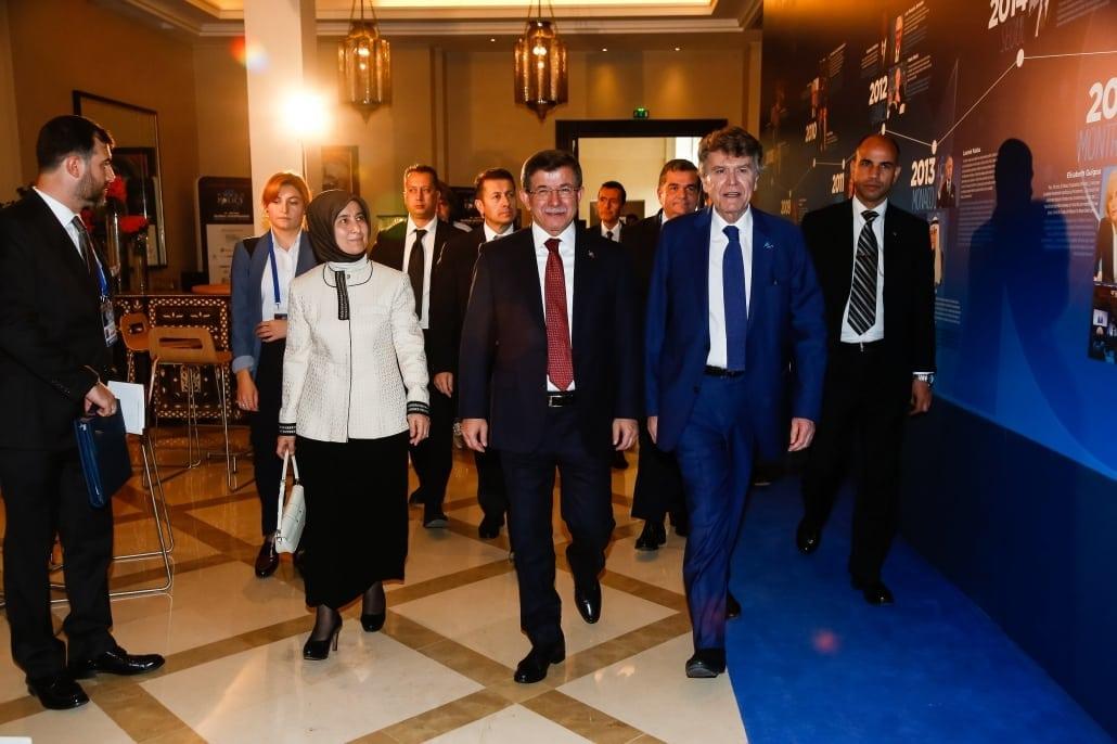 World Policy Conference WPC 2017 Thierry de Montbrial, Sare Davutoğlu ; Ahmet Davutoğlu