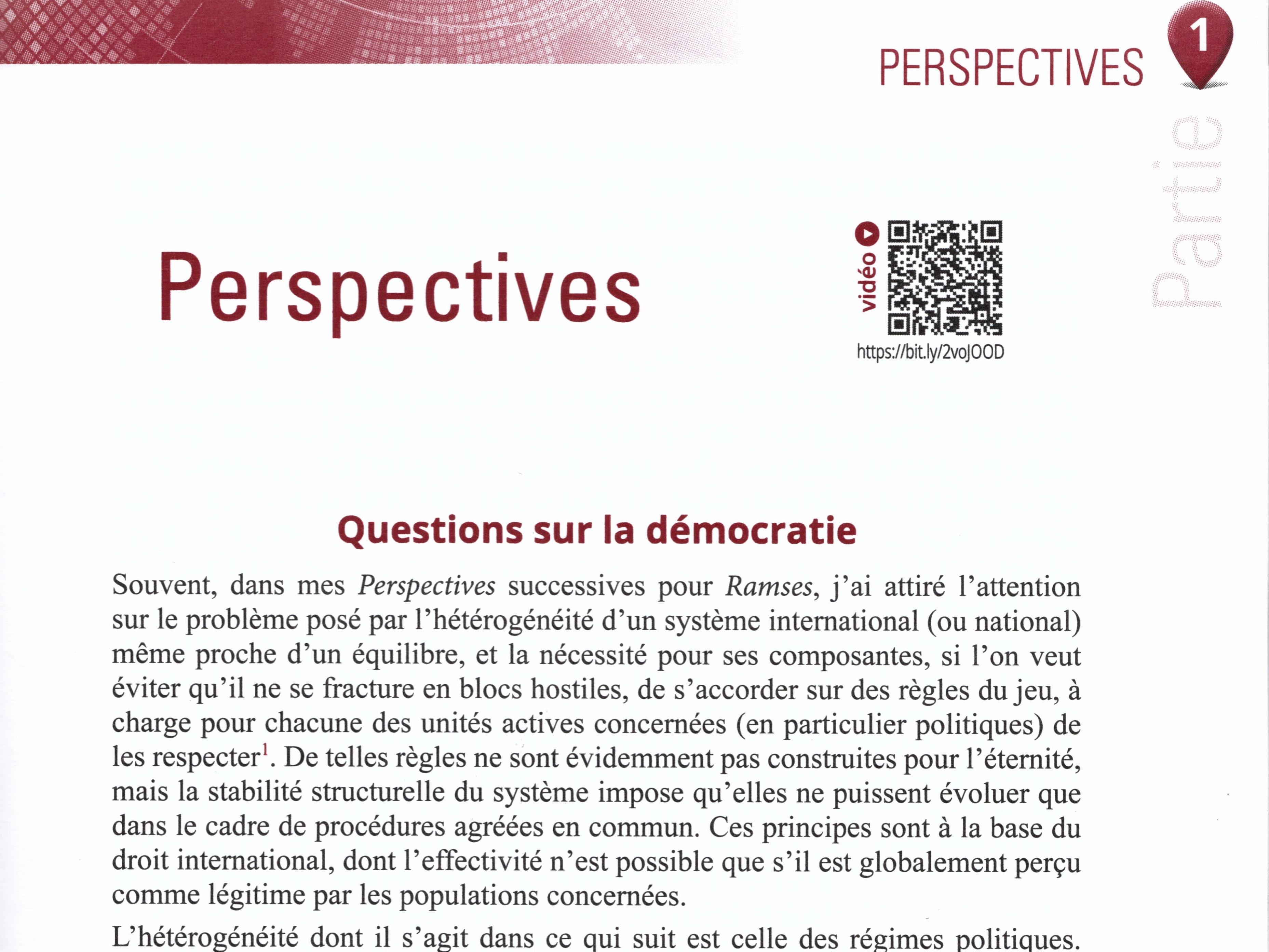 Ramses Perspectives 2019 de Thierry de Montbrial