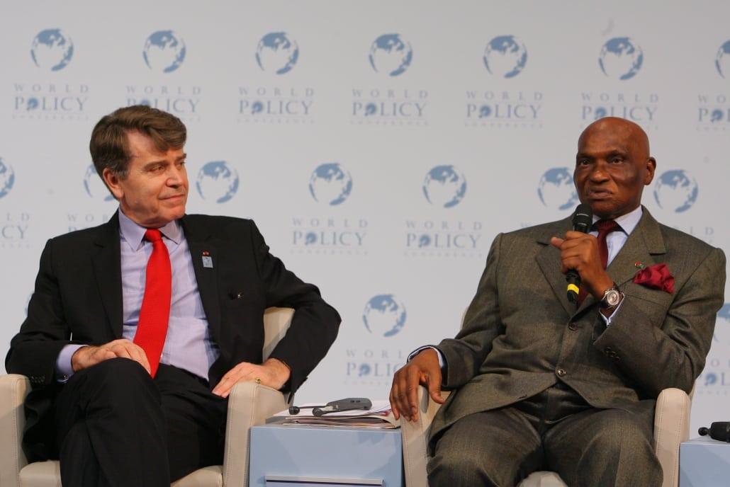 World Policy Conference, WPC 2008, Thierry de Montbrial, Abdoulaye Wade