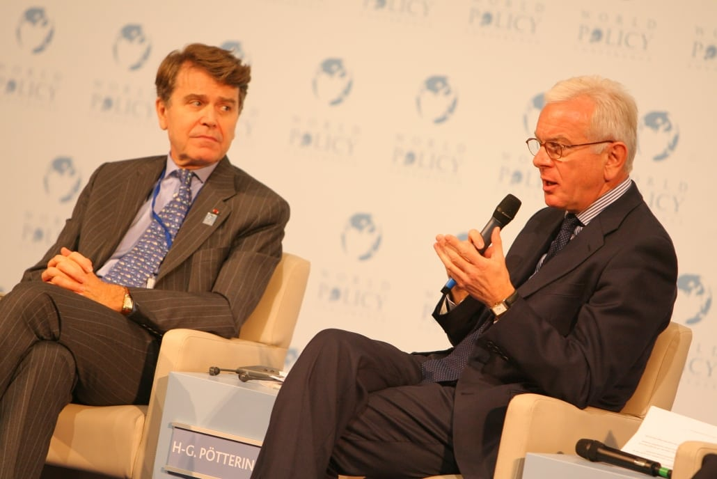 World Policy Conference WPC 2008, Thierry de Montbrial, Hans Gert Pöttering