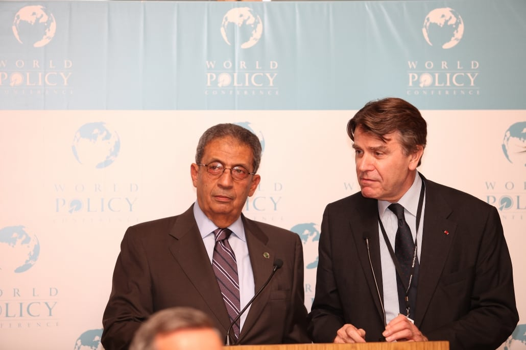 World Policy Conference WPC 2009, Amr Moussa, Thierry de Montbrial