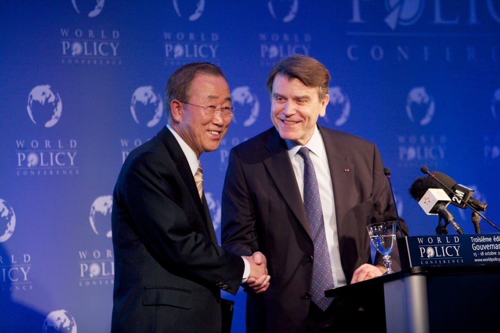 World Policy Conference WPC 2010, Ban Ki-Moon, Thierry de Montbrial