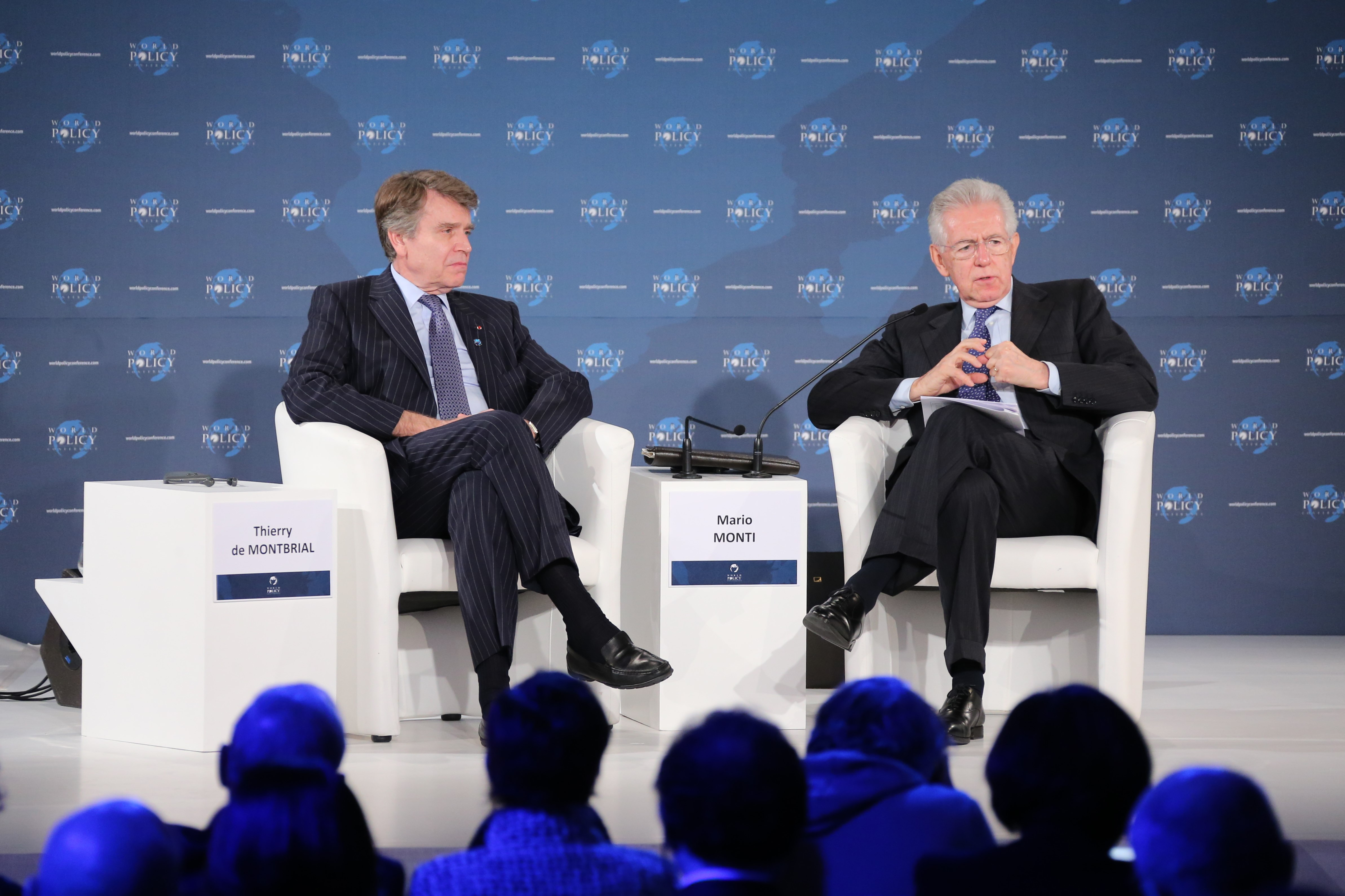 World Policy Conference WPC 2012, Thierry de Montbrial, Mario Monti