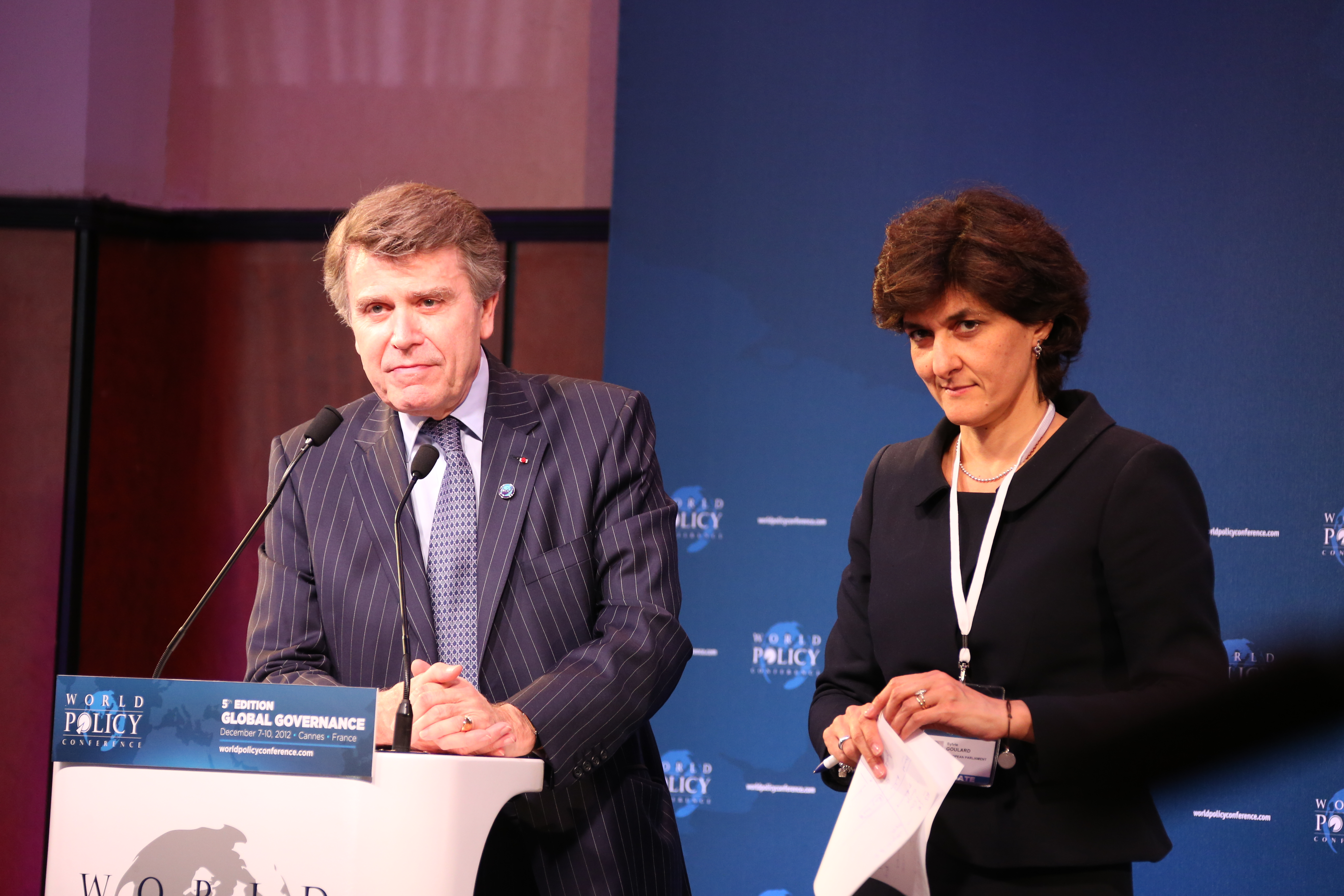 World Policy Conference WPC 2012, Thierry de Montbrial, Sylvie Goulard
