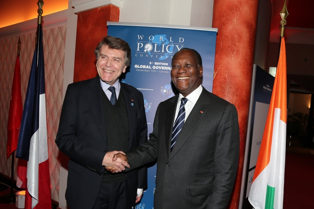 World Policy Conference WPC 2012, Thierry de Montbrial, Alassane Ouattara