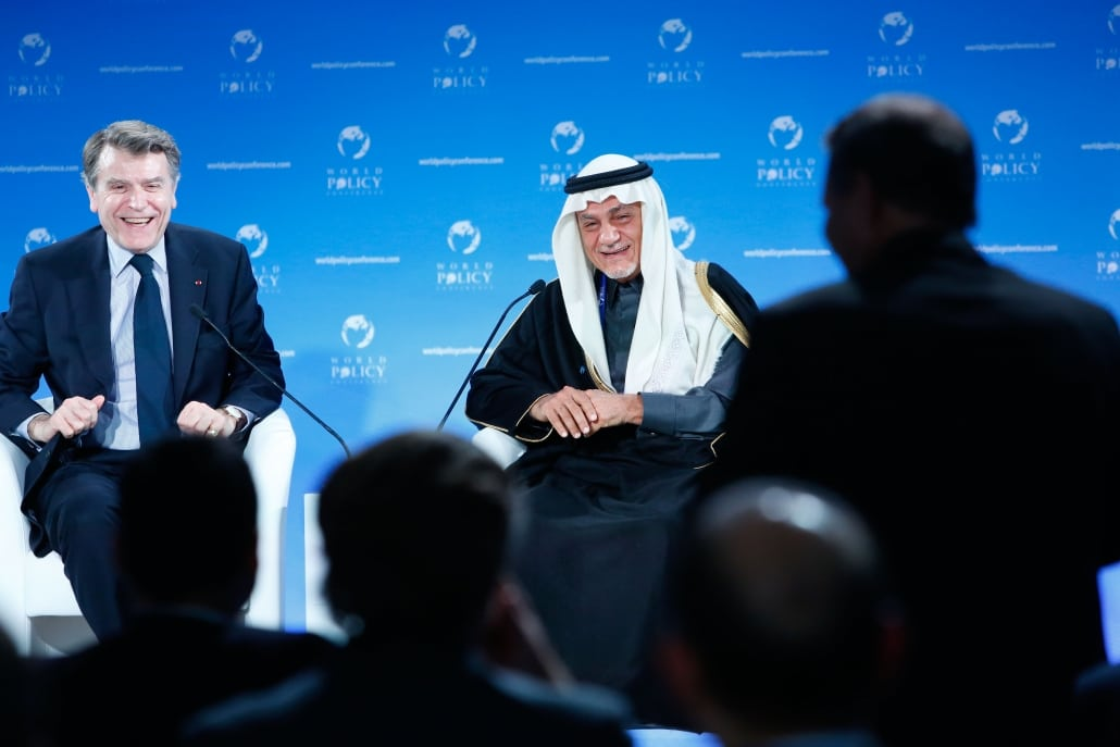 World Policy Conference WPC 2013, Thierry de Montbrial, Prince Turki Al-Faisal