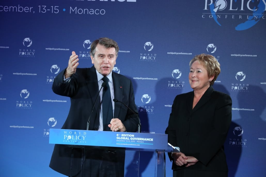 World Policy Conference WPC 2013, Thierry de Montbrial, Pauline Marois