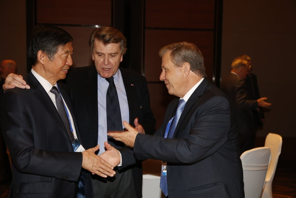 World Policy Conference 2014, Wu Jianmin, Thierry de Montbrial, Meir Sheetrit