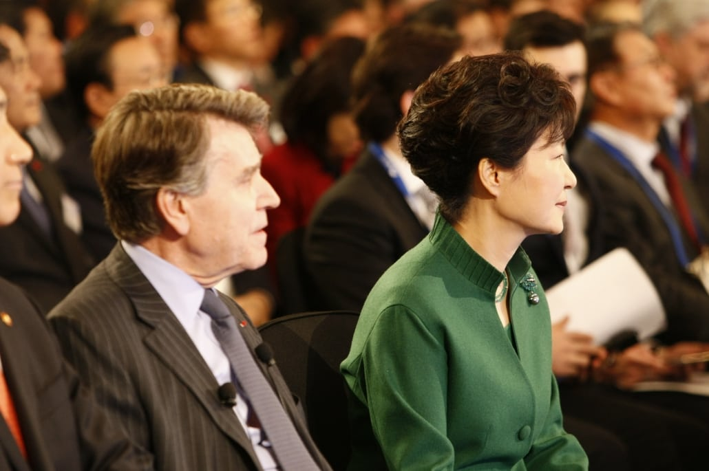 World Policy Conference WPC 2014, Thierry de Montbrial, Park Geun-hye