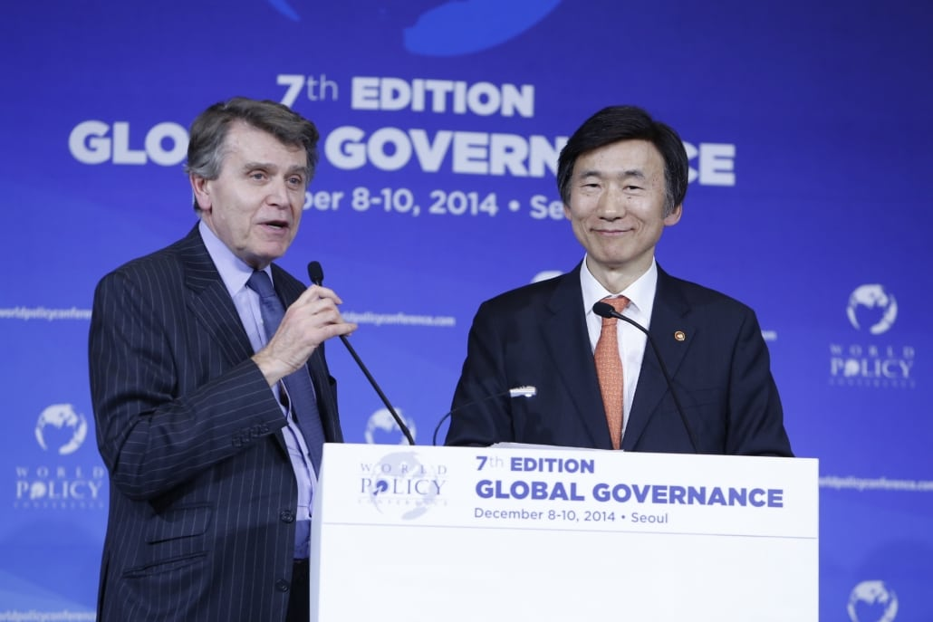 World Policy Conference WPC 2014, Thierry de Montbrial, Yun Byung-se