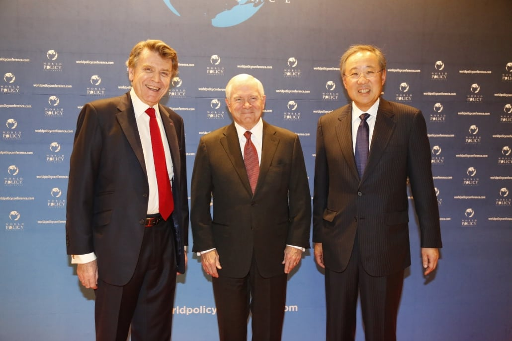 World Policy Conference WPC 2014, Thierry de Montbrial, Robert M. Gates, Jin Roy Ryu,