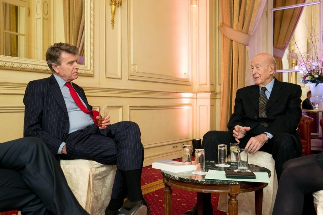 Dîner-débat de l'Ifri avec Valéry GISCARD D'ESTAING, Thierry de Montbrial