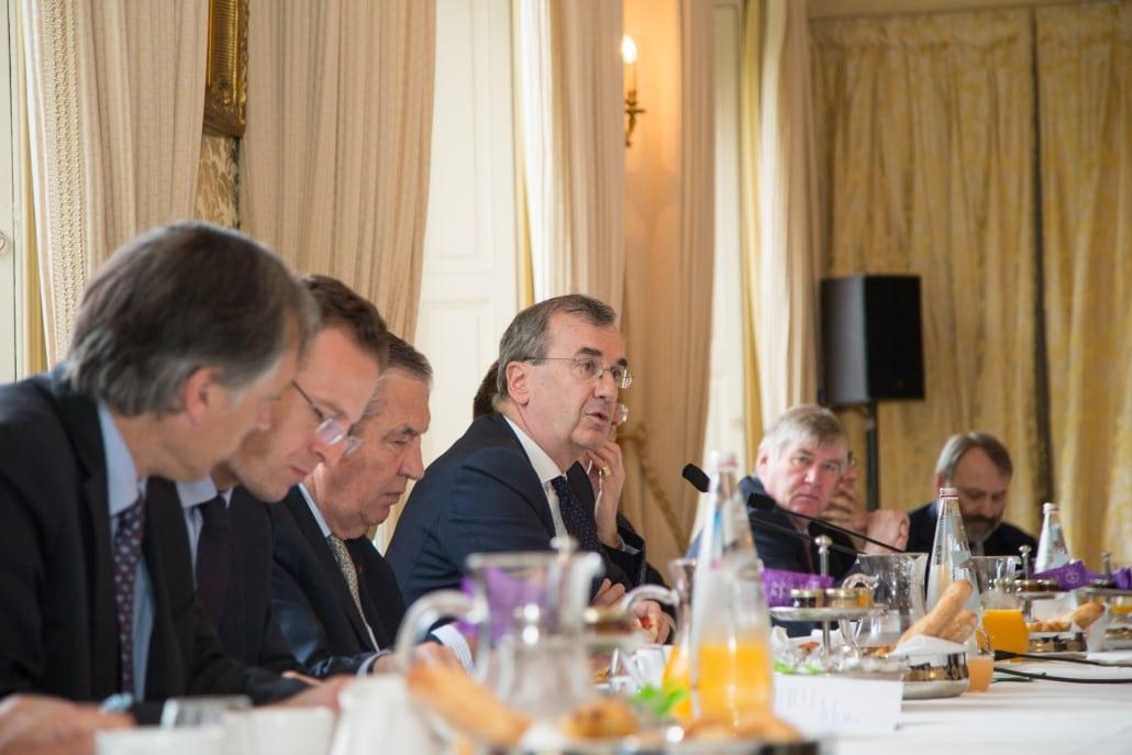Petit-déjeuner-débat de l'Ifri avec François VILLEROY DE GALHAU, Thierry de Montbrial
