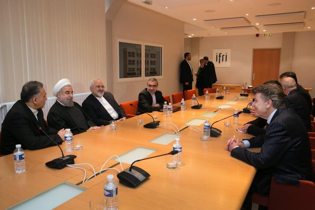 Conférence à l'Ifri avec Hassan Rohani, Thierry de Montbrial