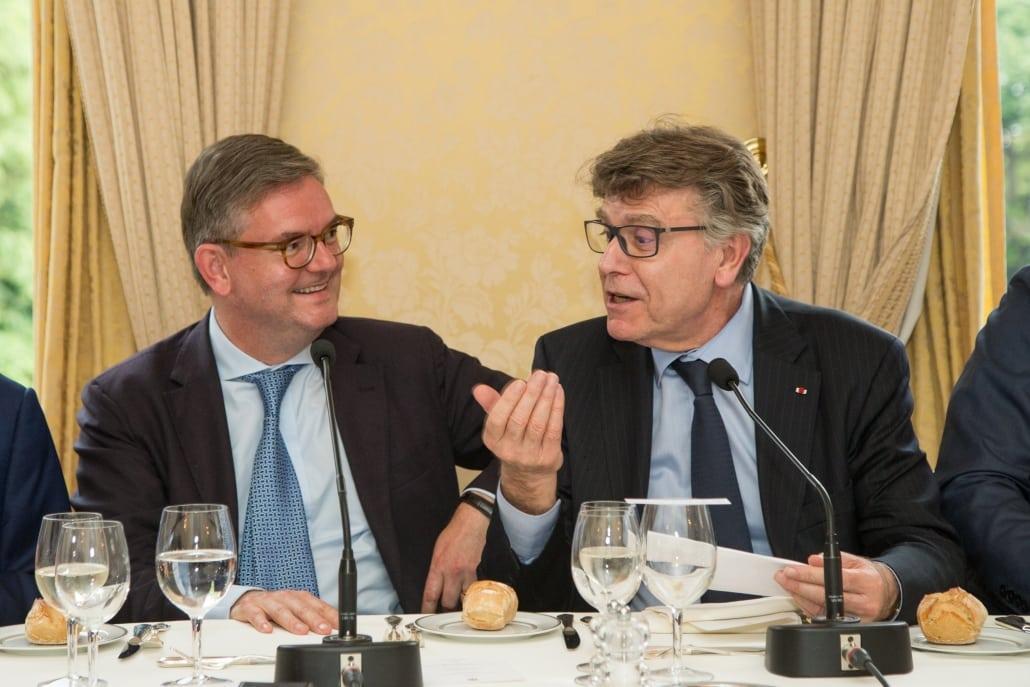 Dîner-débat de l'ifri avec Julian KING, Thierry de Montbrial