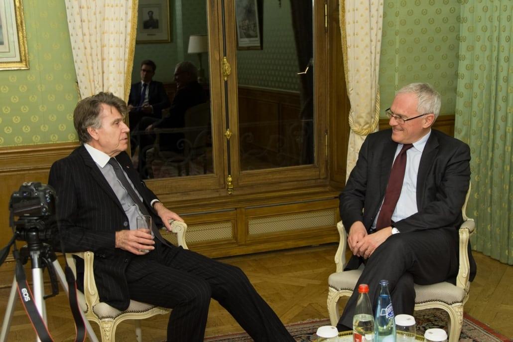 Dîner-débat de l'Ifri avec Jean-Bernard LEVY, Thierry de Montbrial