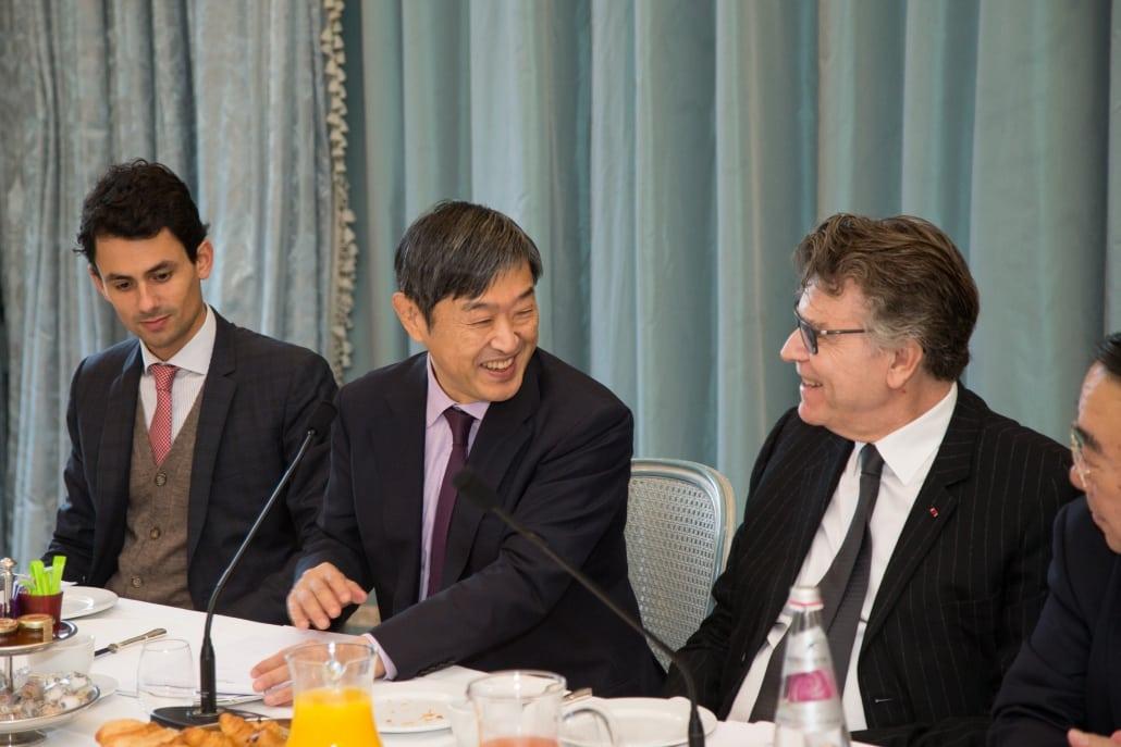Petit-déjeuner-débat de l'Ifri avec Shinichi KITAOKA, Thierry de Montbrial