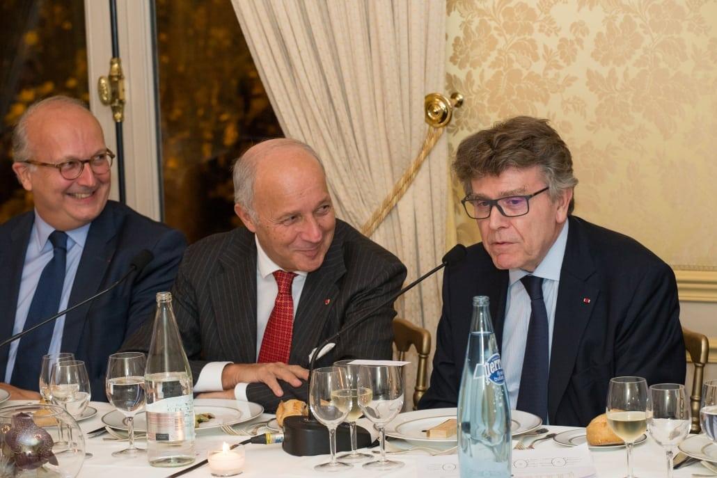 Dîner-débat de l'Ifri, Laurent FABIUS, Thierry de Montbrial
