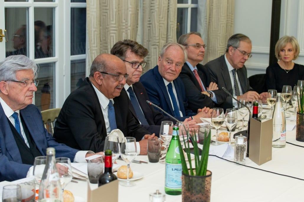 Dîner-débat de l'Ifri, Abdelkader MESSAHEL, Thierry de Montbrial