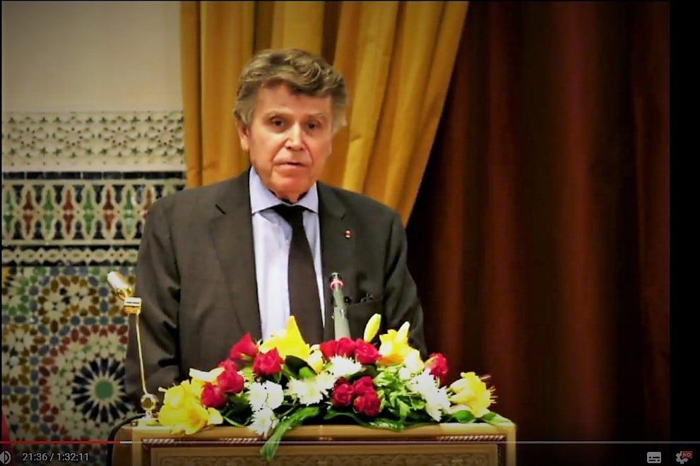 Thierry de Montbrial conférence de présentation ramses 2019 Académie du Royaume du Maroc