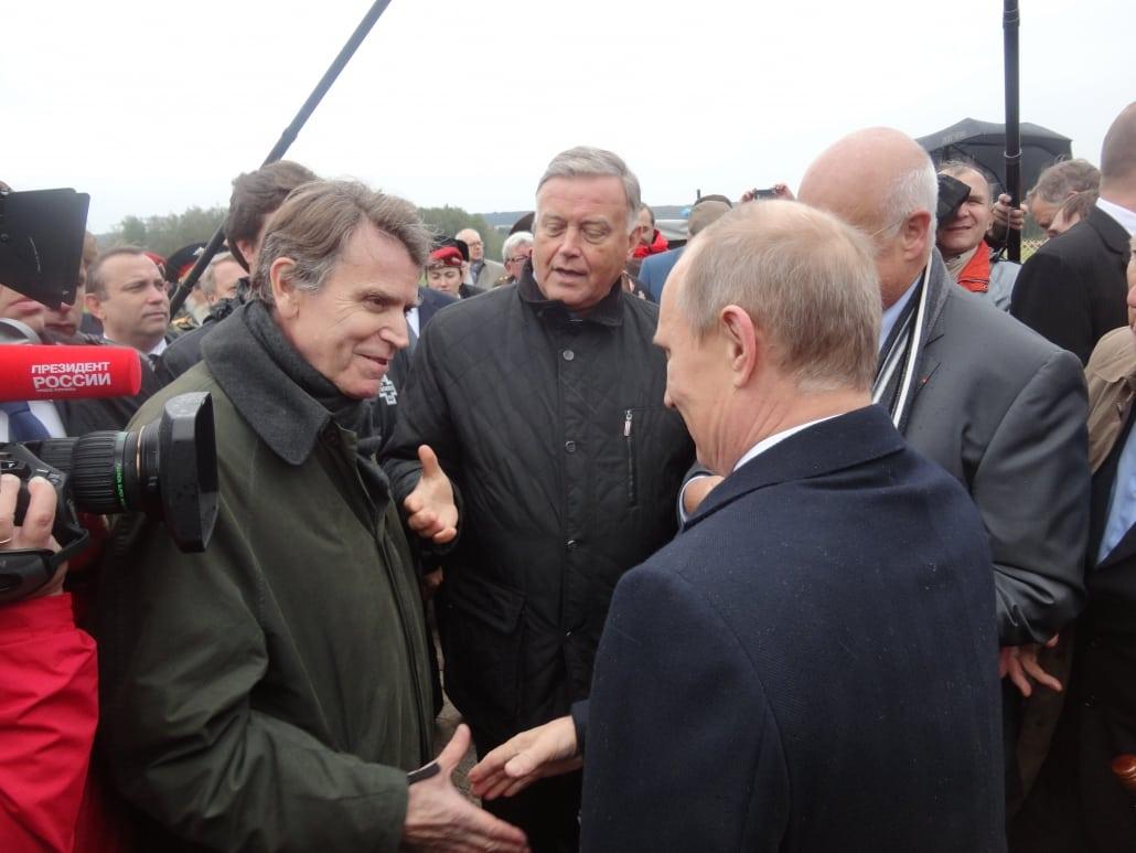 Vladimir Poutine, Thierry de Montbrtial, 200° anniversaire de la bataille de Borodino, Russie