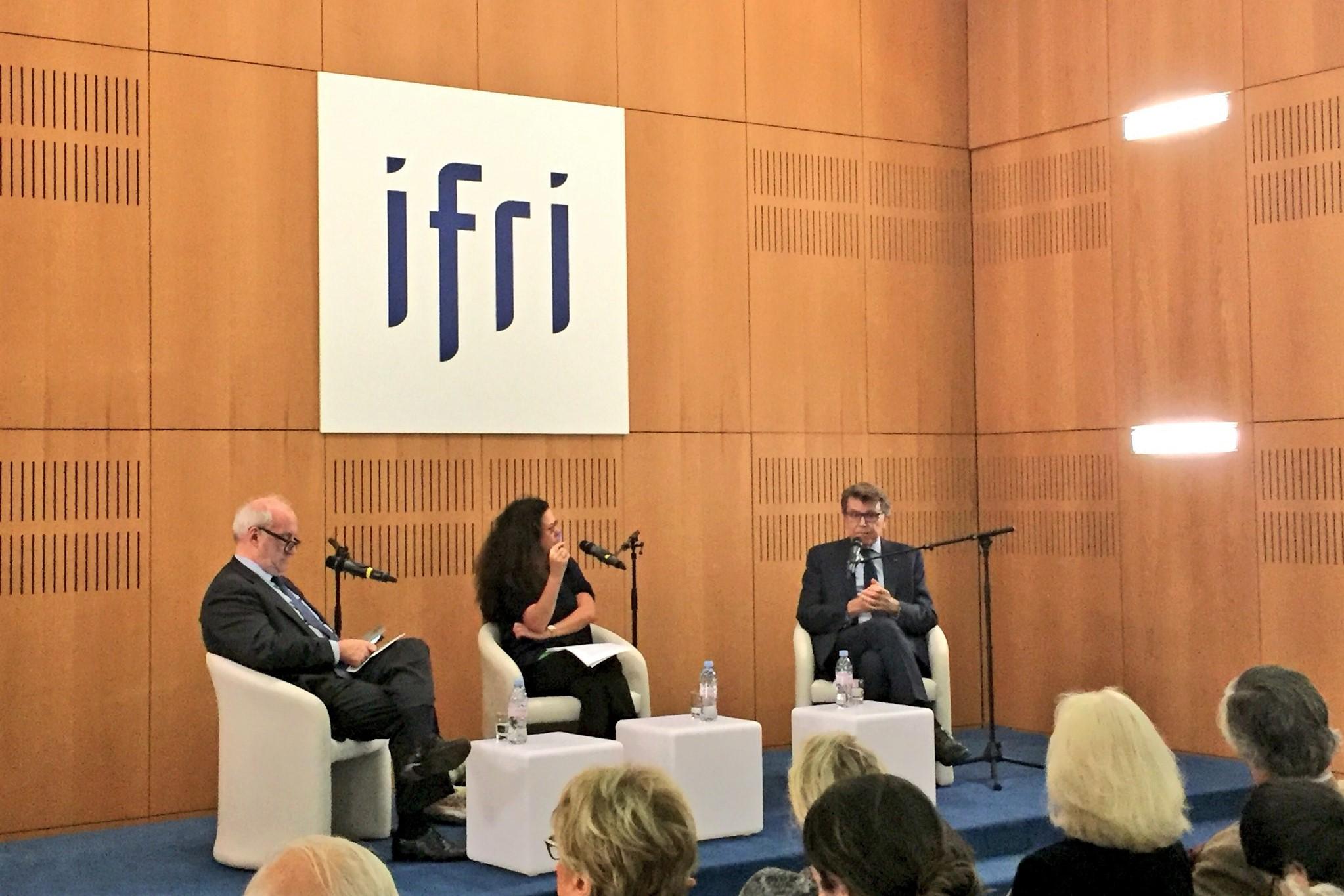 Conférence Thierry de Montbrial et Hubert Védrine, Ifri le 7/11/2018