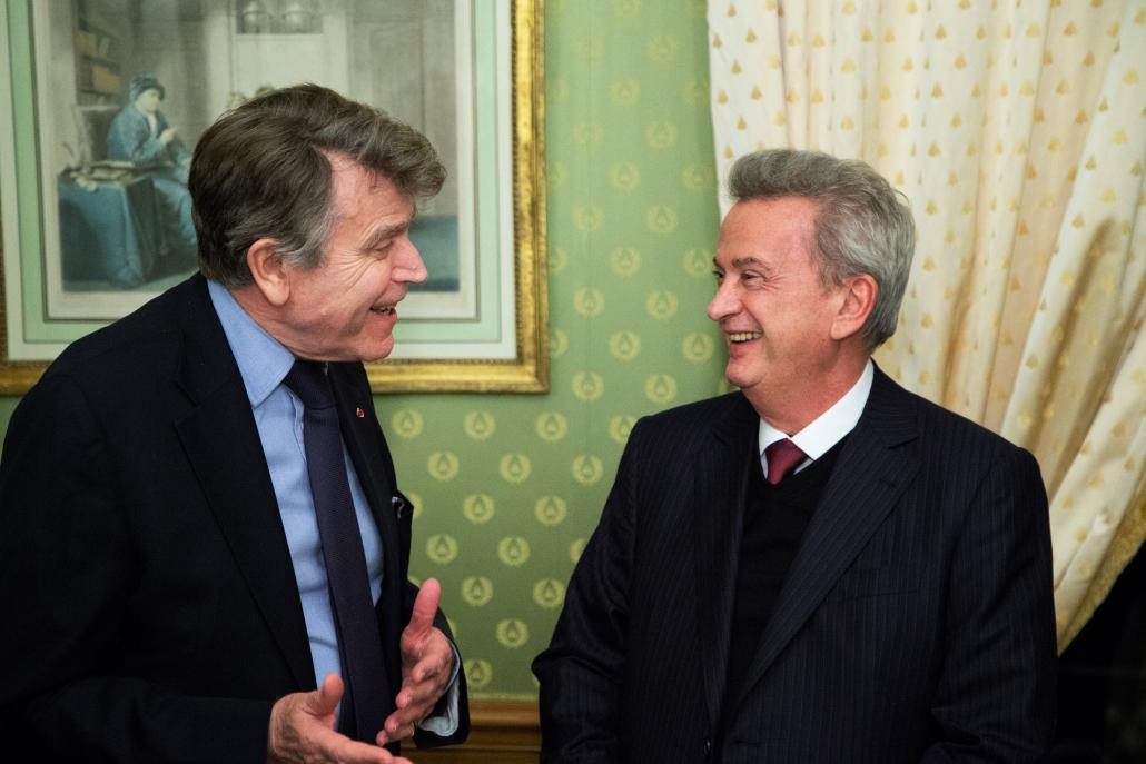 Thierry de Montbrial et Riad Salame, Ilfri le 10 janvier 2019