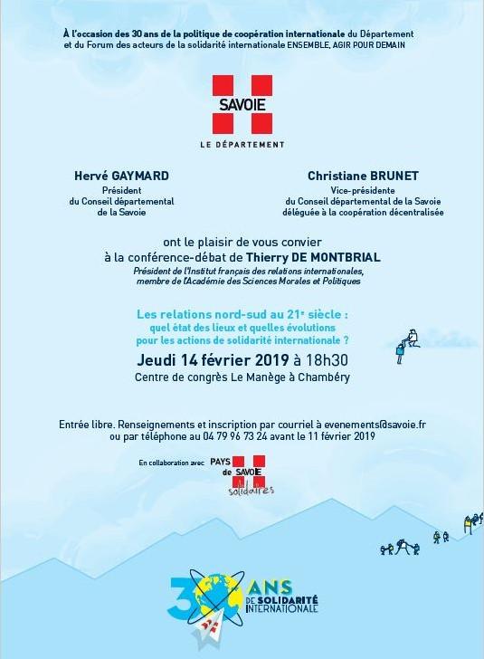 2019-02-14 conference de Thierry de MOntbrial