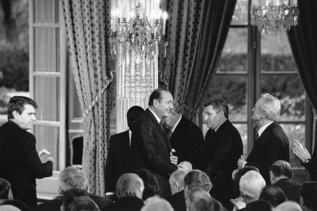 20° anniversaire de l'Ifri, 1999, Réception à l'Elysée avec Jacques Chirac