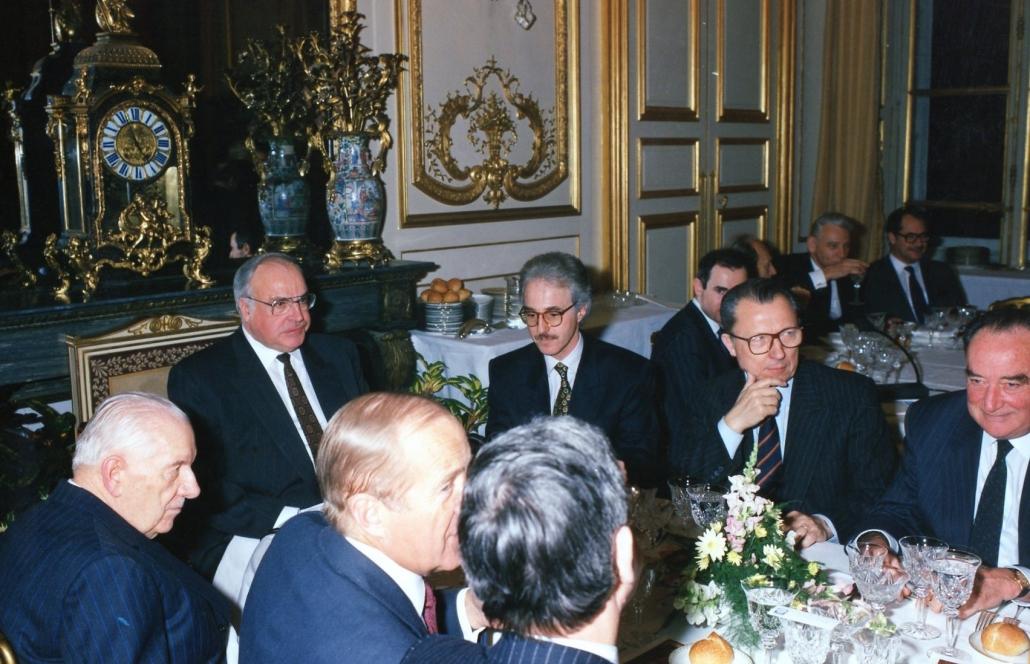 Helmut Kohl et Jacques Delors, Ifri 1990