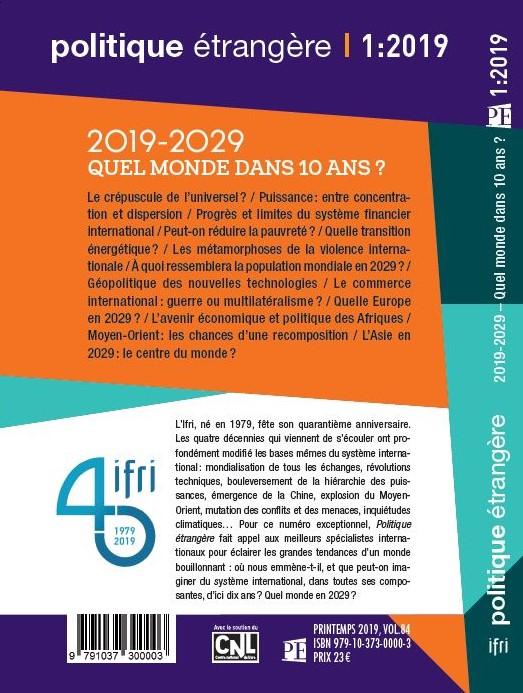 Revue Politique étrangère, PE 1:2019