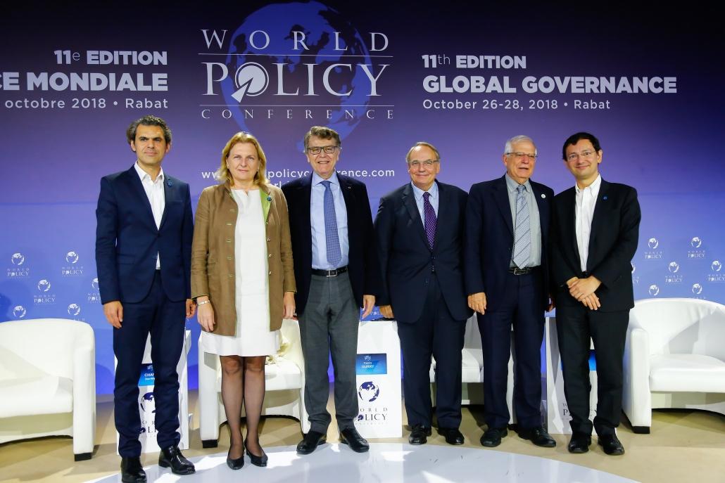 WPC 2018 - Ali Aslan ; Karin Kneissl ; Thierry de Montbrial ; Jean-Louis Bourlanges ; Josep Borrell ; Nicolas Véron