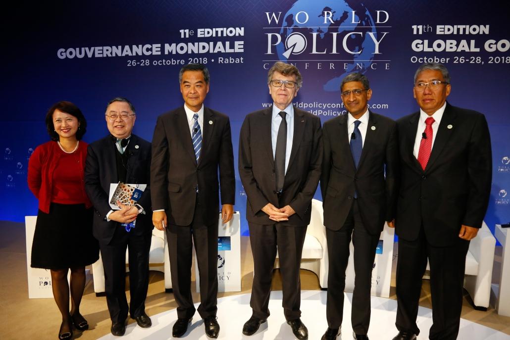 WPC 2018 - Karen Tang ; Ronnie C. Chan ; Leung Chun-Ying ; Thierry de Montbrial ; Shiv Vikram Khemka ; Bayu Krisnamurthi